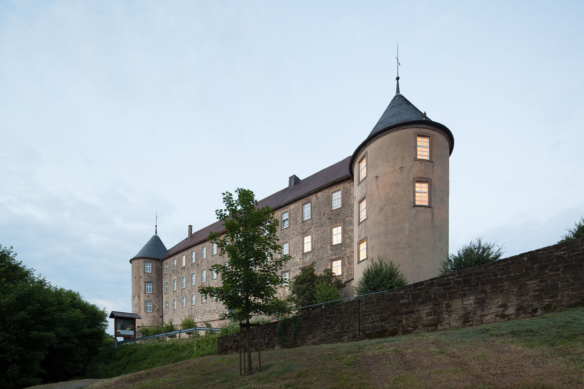 german-property - the picture shows the headquarters of the company german-property, the castle of Waldenburg in Germany