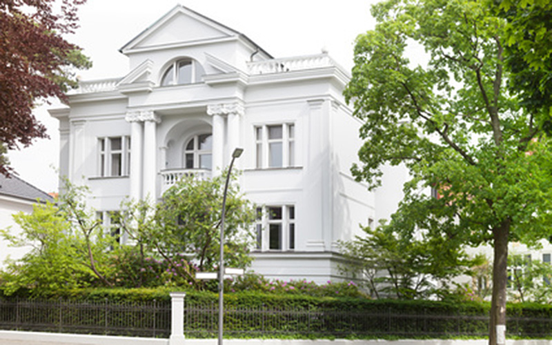 german-property - the picture shows an urban villa in Germany