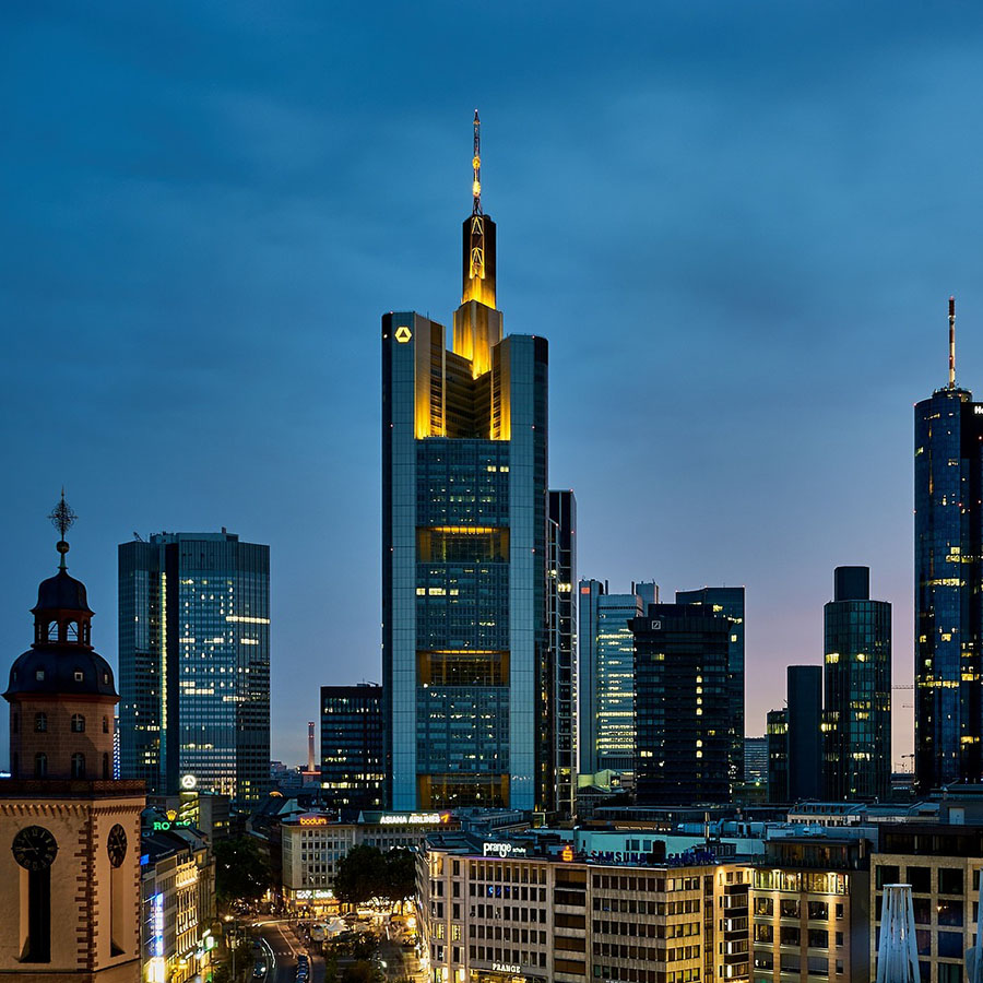 german-property - the picture shows the skyline of Frankfurt am Main, Germany