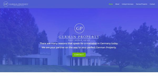 german-property - the picture shows the website's homescreen